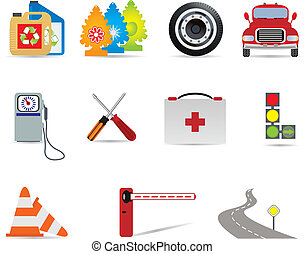 Auto icons. Vector illustration for you design