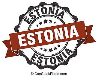 Estonia round ribbon seal