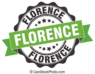 Florence round ribbon seal