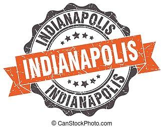 Indianapolis round ribbon seal