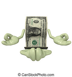 Money Meditation - 3D concept and presentation figure