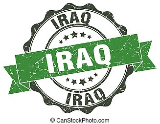 Iraq round ribbon seal