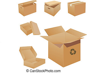 Cardboard Boxes. Vector illustration for you design