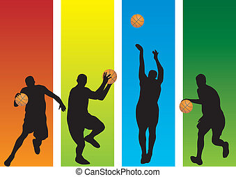 Basketball Players. Vector illustration for you design