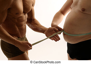 Condition - Two men comparing their condition