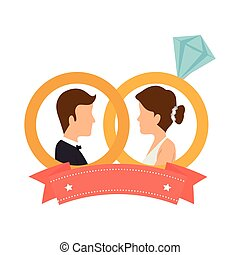 just married couple card
