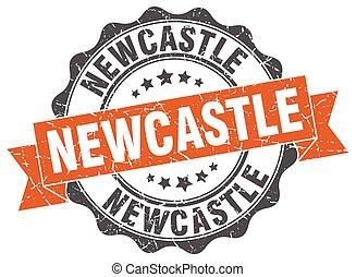 Newcastle round ribbon seal
