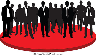 Businessmen - Group businessmans. Silhouette. Vector...