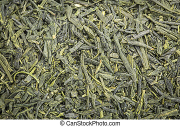 Sencha Saga green tea background - background texture of...