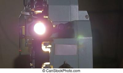 4K vintage film projector.