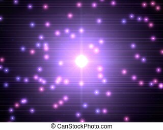 glowing light sources and big source on center. violet...