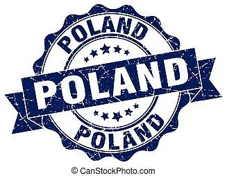 Poland round ribbon seal