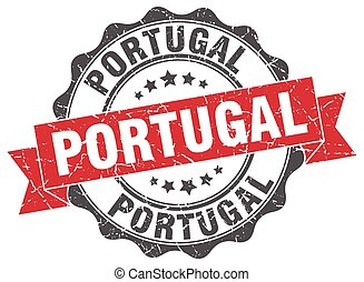 Portugal round ribbon seal