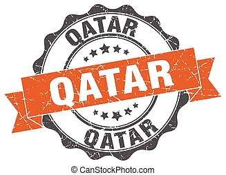 Qatar round ribbon seal