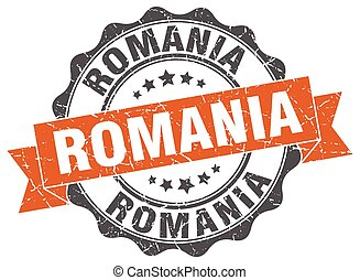 Romania round ribbon seal