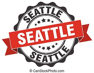 Seattle round ribbon seal