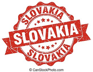 Slovakia round ribbon seal