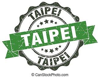 Taipei round ribbon seal