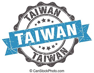 Taiwan round ribbon seal