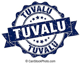 Tuvalu round ribbon seal
