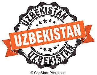 Uzbekistan round ribbon seal