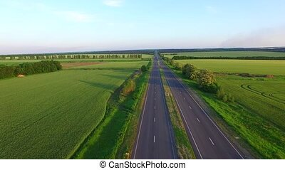 long straight road middle of rural area - long straight road...