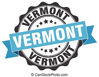 Vermont round ribbon seal