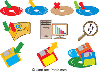 Computer icons. Vector illustration for you design