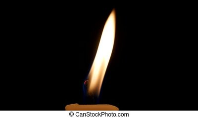 Blow out candle outside in evening - A blow out of a candle...