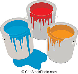 Paint Cans Vector illustration for you desifn