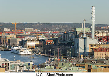City of Gothenburg by the river, travel Sweden