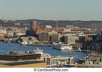 Gothenburg City in Sweden in winter