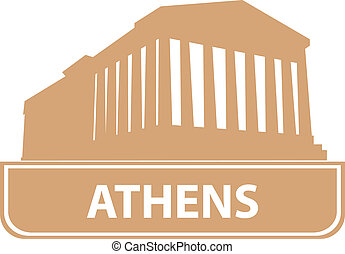 Athens outline. Vector illustration for you design