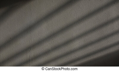 Grey Repaired Cracked Plaster Wall with Gate Shadow