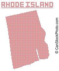 Rhode Island Dot Map - A dot map of Rhode Island state...