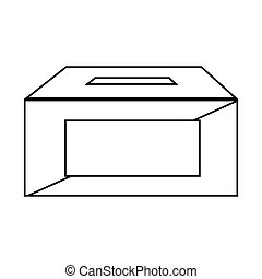 election urn isolated icon vector illustration design