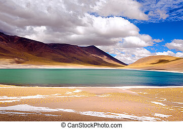 Lake Miscanti in Chile - Lake Miscanti in the highlands of...