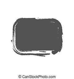 Grunge vintage painted rectangle shapes. Vector...