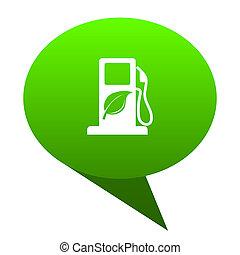 biofuel green bubble icon - biofuel green bubble web icon