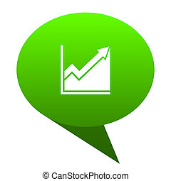 histogram green bubble icon - histogram green bubble web...