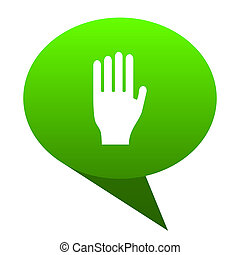 stop green bubble icon - stop green bubble web icon