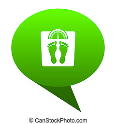 weight green bubble icon