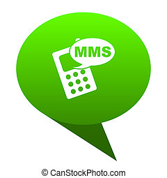 mms green bubble icon - mms green bubble web icon