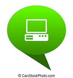 computer green bubble icon