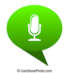 microphone green bubble icon - microphone green bubble web...