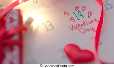 Valentine's day in calendar - Calendar with Valentines Day...