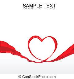 vectro heart ribbon
