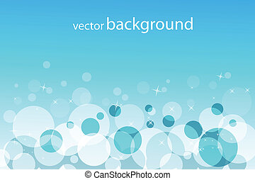 bubbly vector background - illustration of vector background...