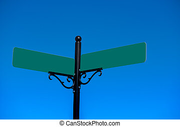 Sign post with freespace - A pair of sign post with space...