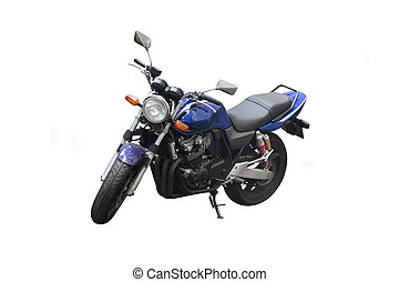 motorcycle under the white background